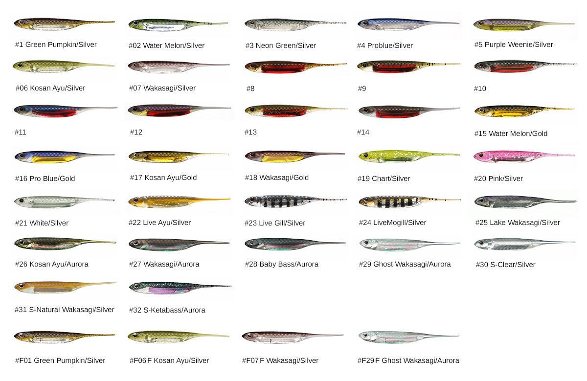 Farben: Flash-J Pintail Freshwater und Luminova / Fluoreszierend