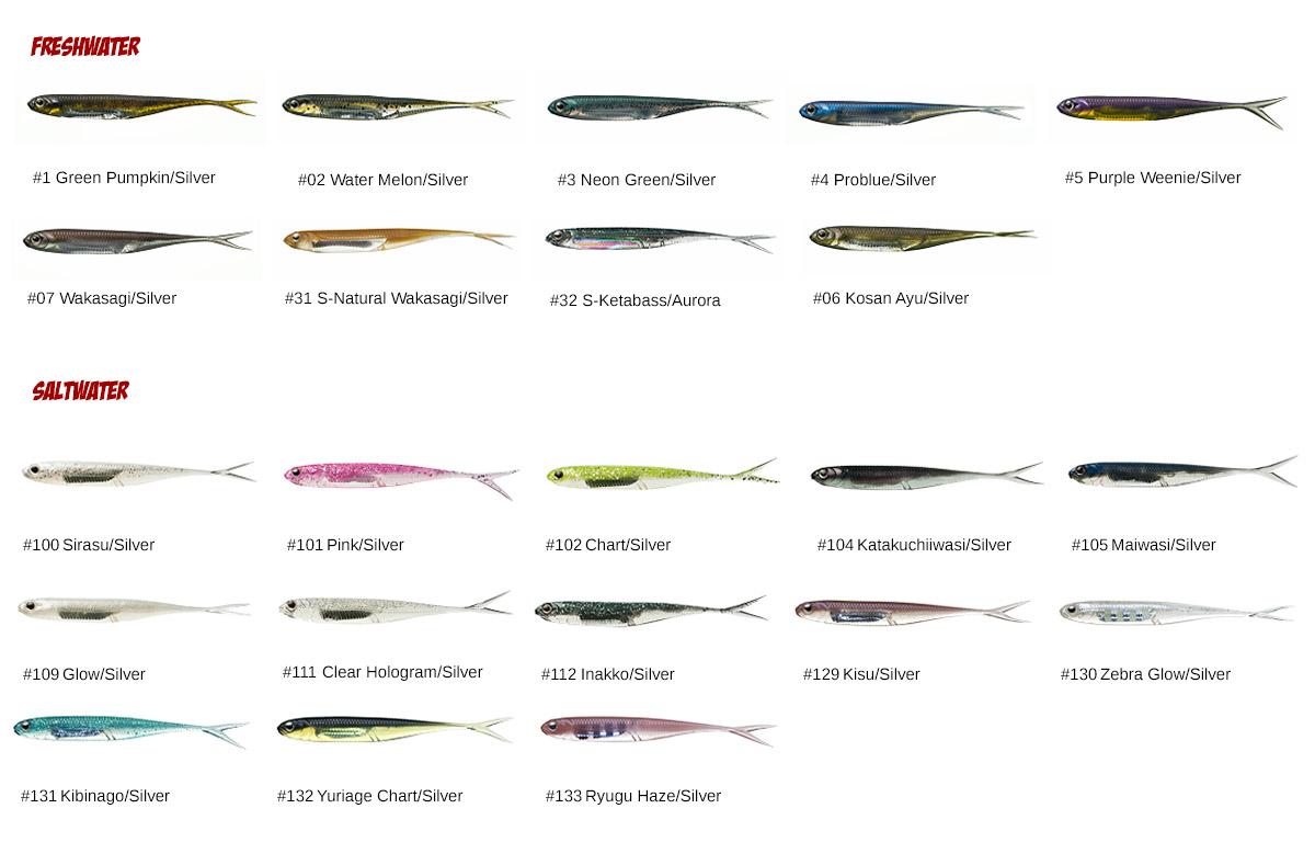 Flash-J Split Farben - Saltwater und Freshwater