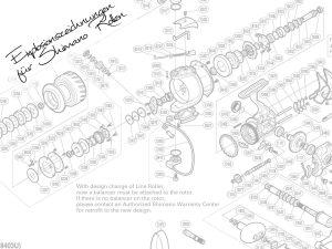 Explosionszeichnungen für Shimano Rollen