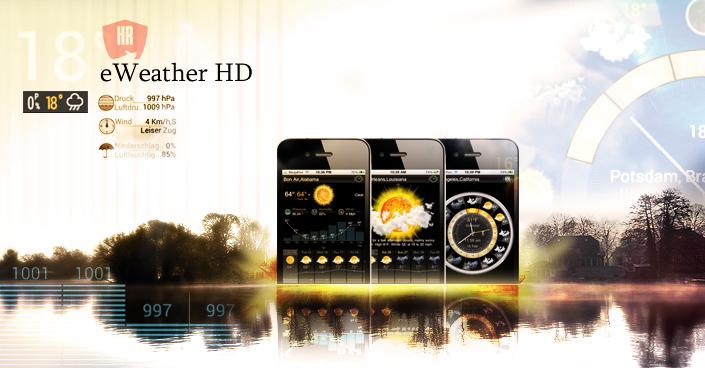 Die Wetter App für Angler - eWeather HD - Mehr Wetter geht nicht!