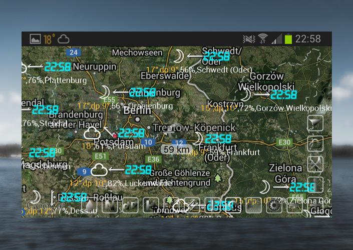 Wetterdaten auf Satelitenkarte in eWeather HD - nicht brauchbar!