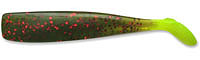 Lunker City Shaker, Farbe Avocado Red Flake w/ Chartreuse Tail #183