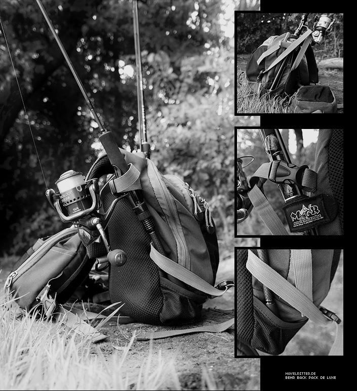 Rutenhalter am Angelrucksack von Behr - Back Pack De Luxe