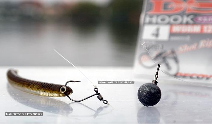 Air Bag Minnow von Fish Arrow mit Decoy Down Shot am Dropshot Rig