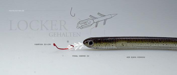 VanFook DS21R mit Final Keeper am Fish Arrow Air Bag Minnow