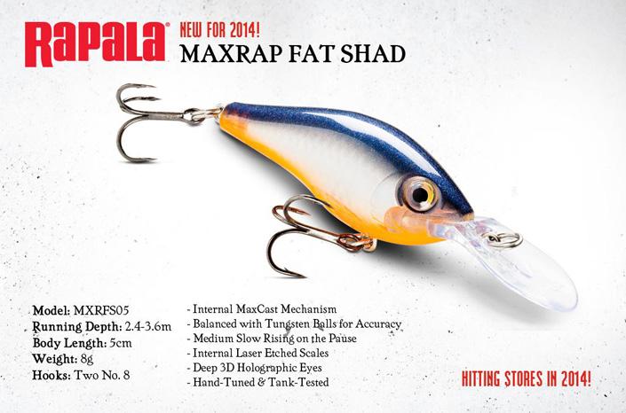 Rapala MaxRap Fat Shad 2014
