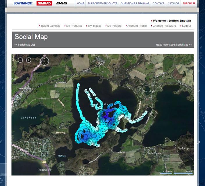 Lowrance Insight Genesis Social Map
