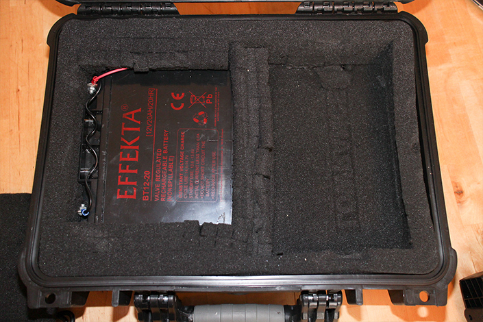 Der Akku im Koffer