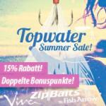 Oberflächenwobbler für Barsch - Summer Sale, Nippon-Tackle!