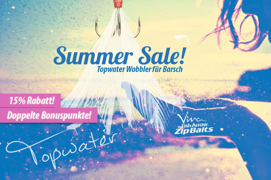 Summer Sale bei Nippon-Tackle: Oberflächenwobbler für Barsch
