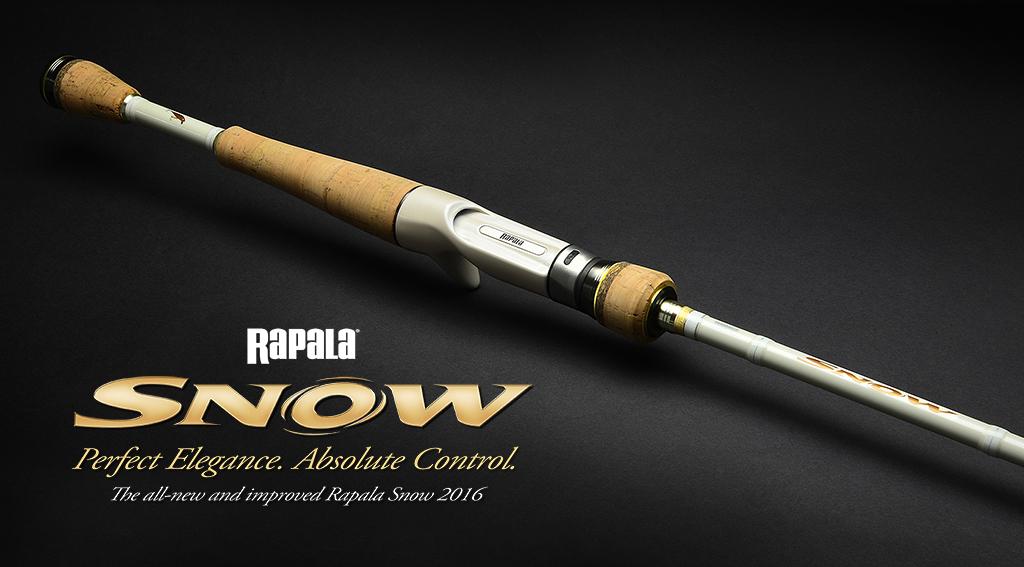 Rapala Snow Ruten – 4 Baitcastruten in Weiß
