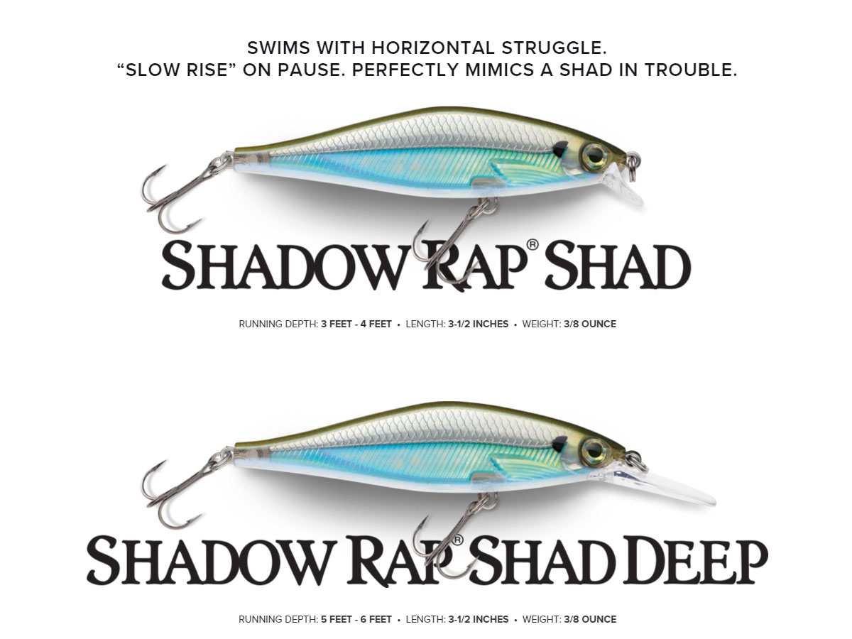 Rapala Shadow Rap Shad & Shadow Rap Shad Deep via. rapala.com