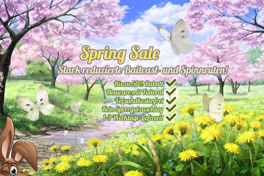 Stark reduzierte Angelruten bei Nippon-Tackle! Its Spring Sale Baby!