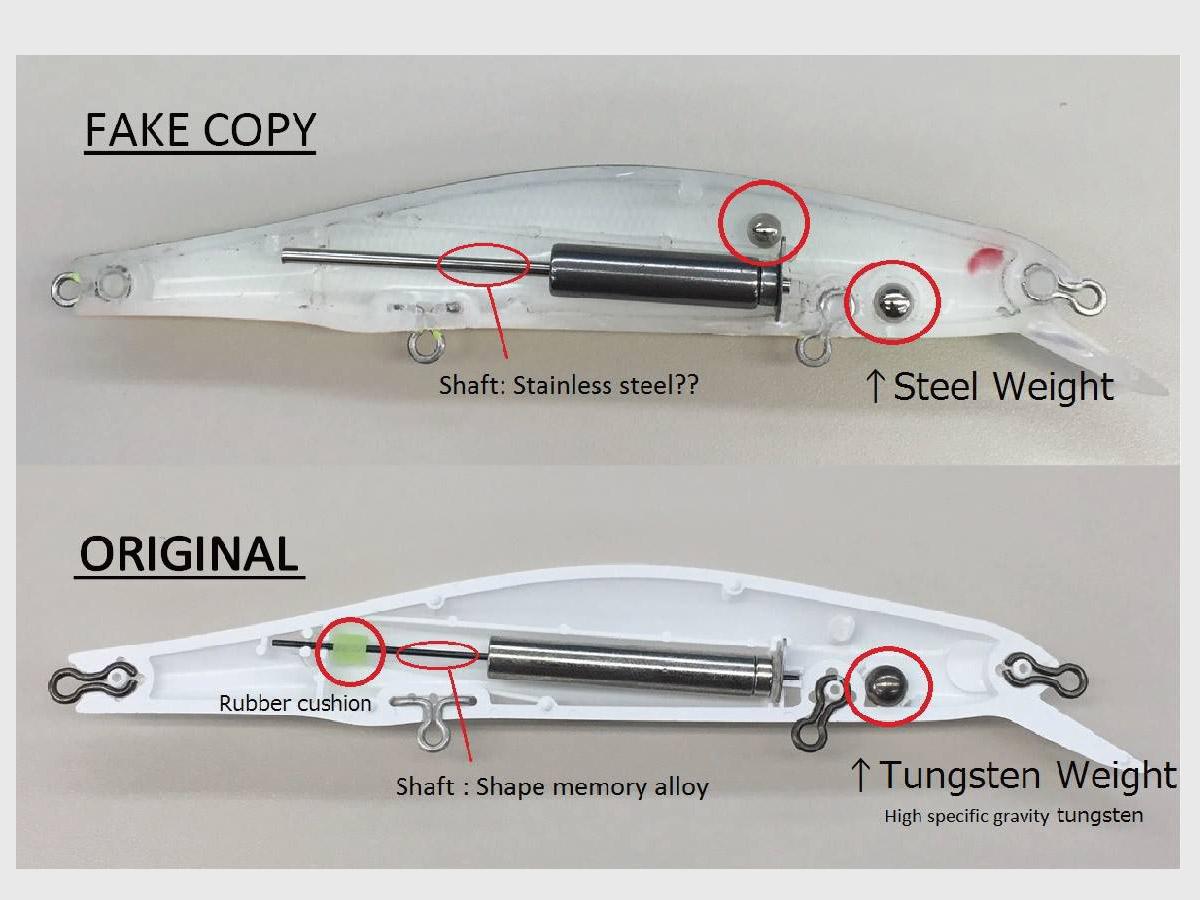 ZipBaits Orbit 110 SP - Unterschied zwischen Original und Fälschung
