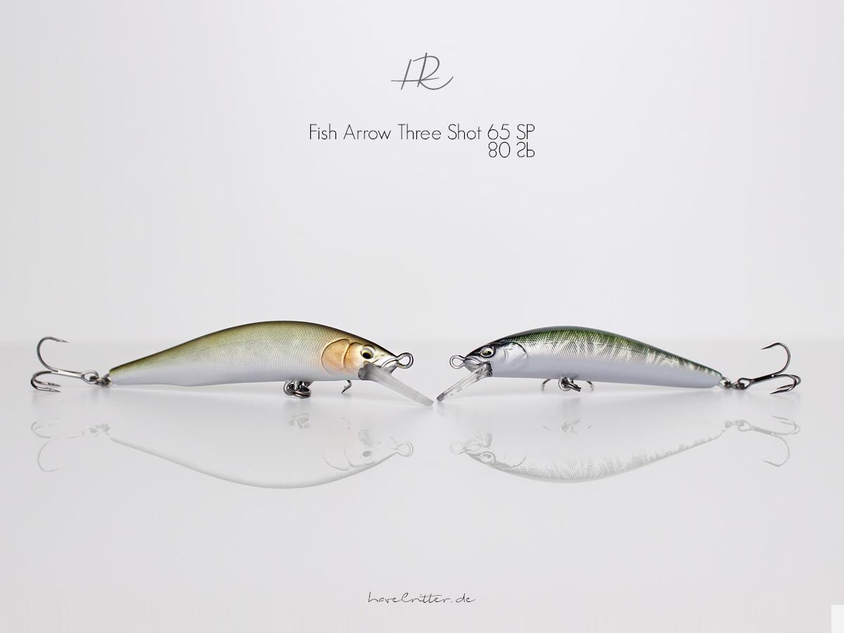 Die neuen Three Shot Minnows von Fish Arrow mit Drum Drive / Weight System