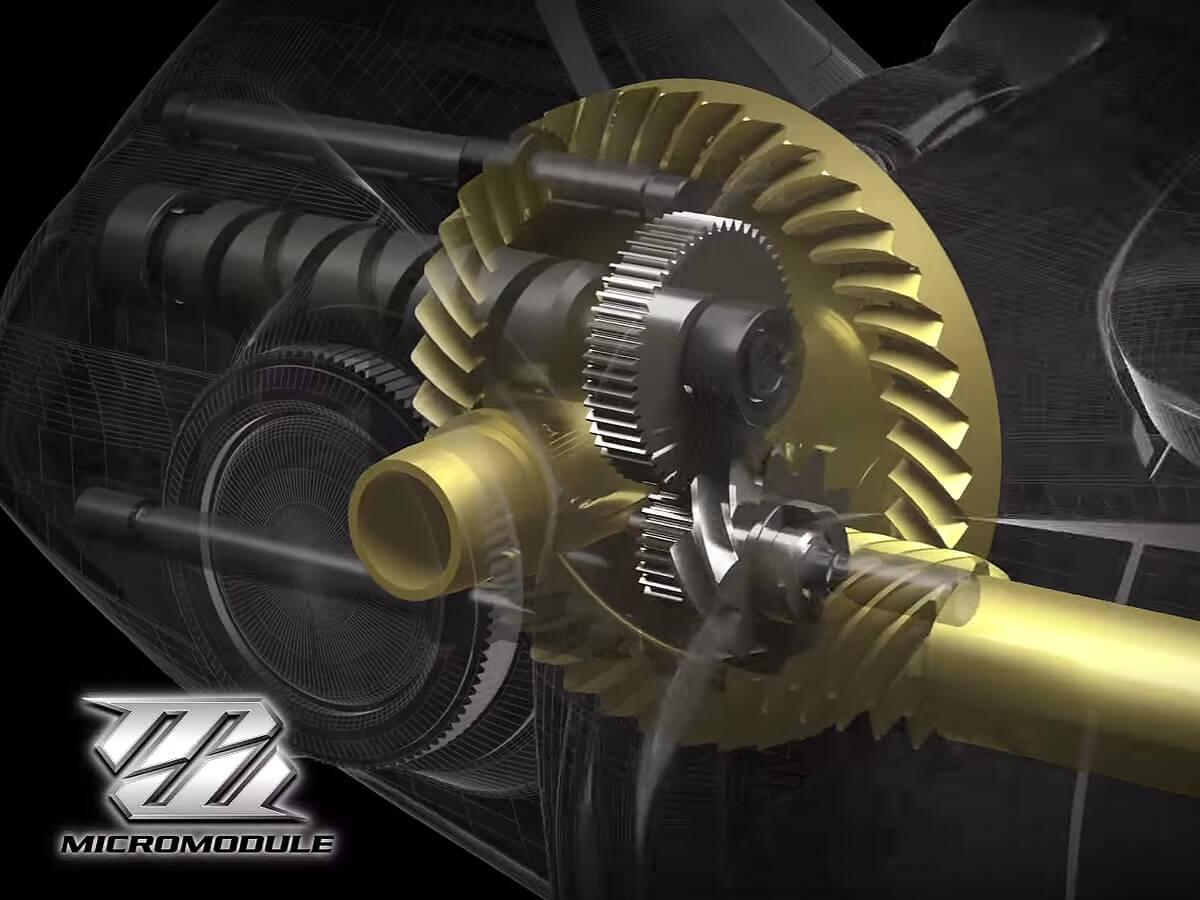 Das Micro Module Getriebe der Shimano Stella FI
