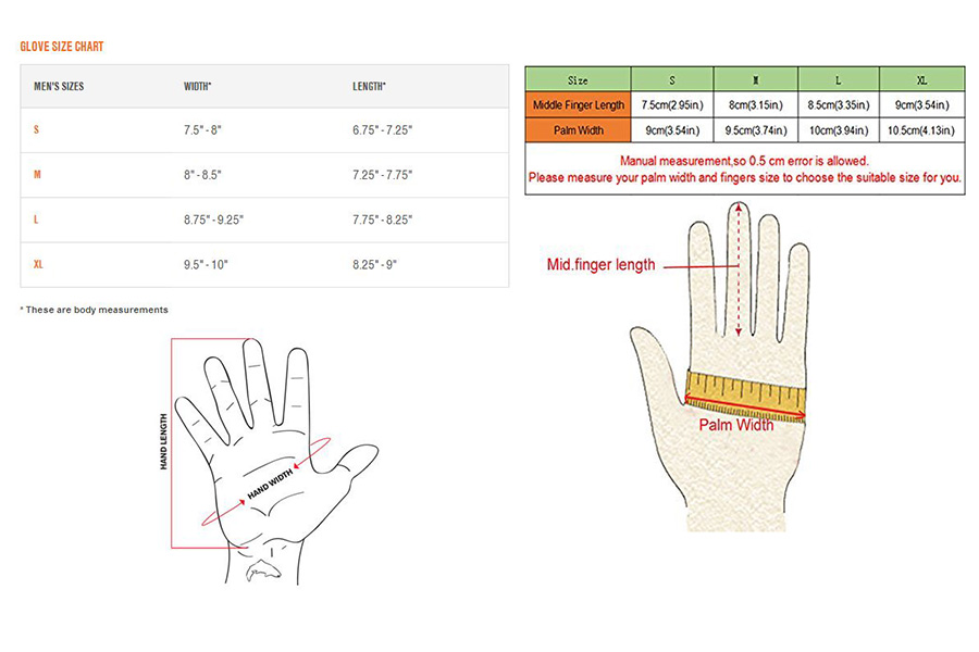 Handschuhgrößen: Größenangaben und Vorgehensweisen für die Vermussung deiner Hände
