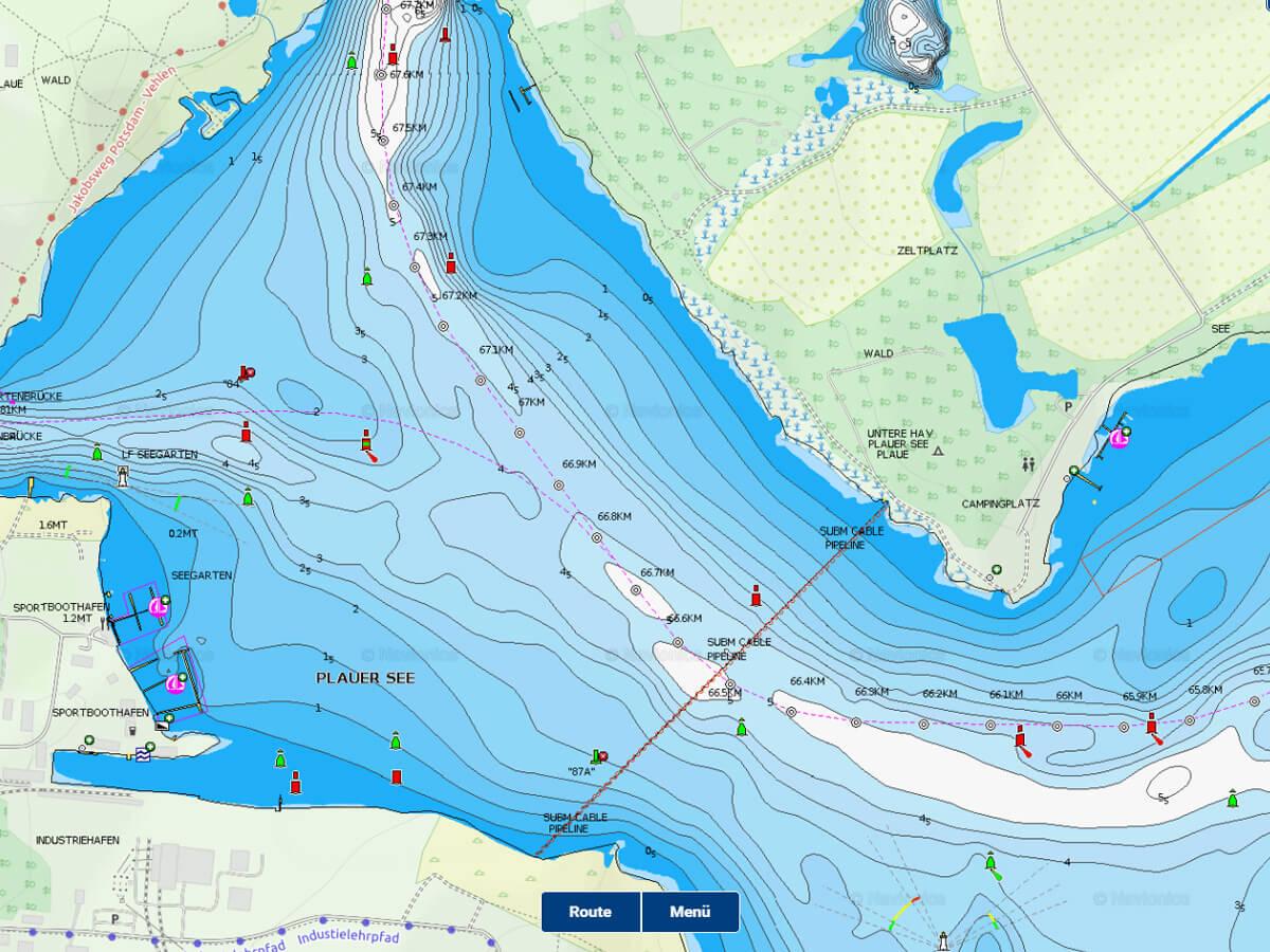 Navionics WebApp - kostenfreie Gewässerkarten für Angler