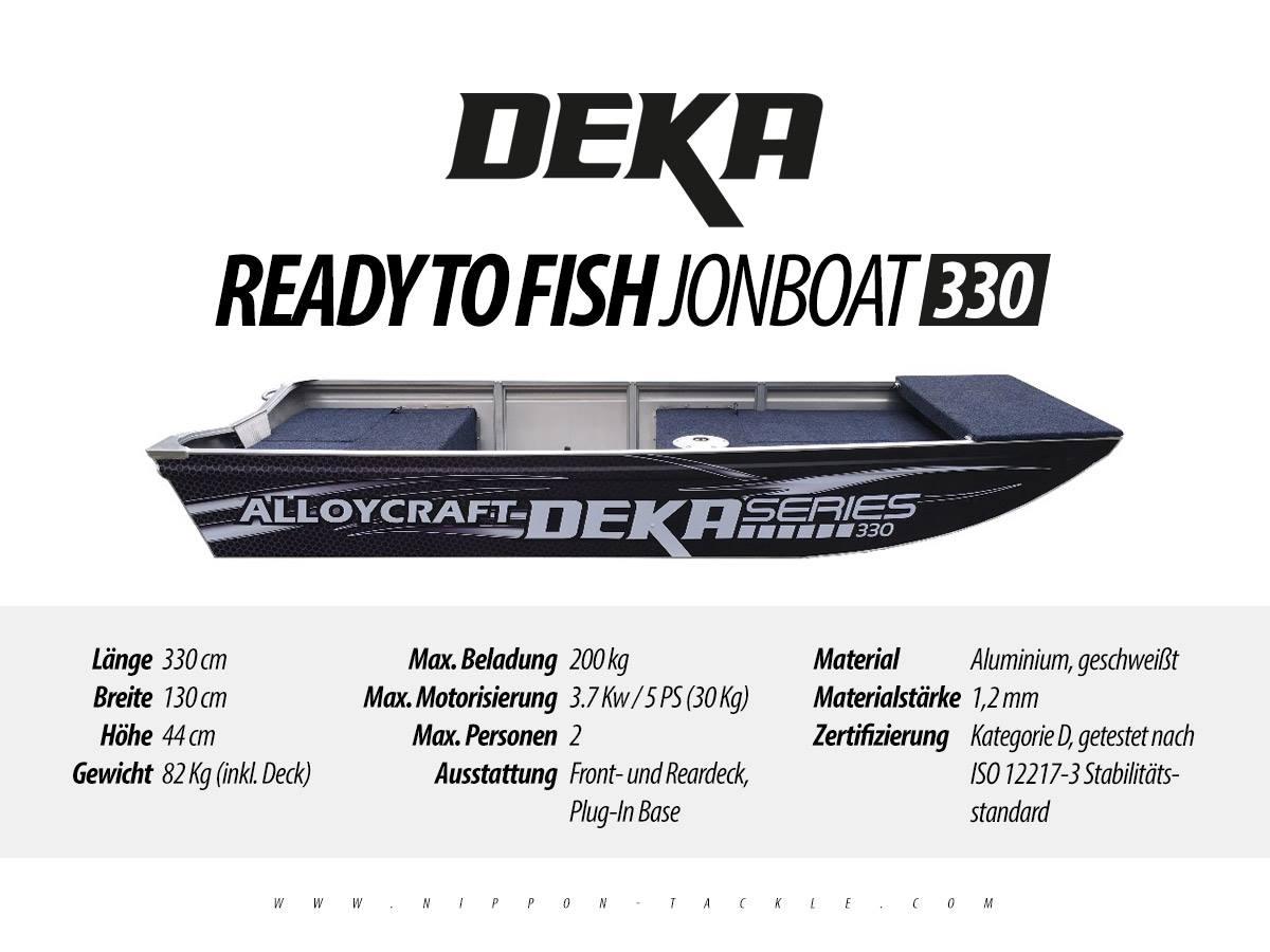 DEKA Jon Boat 330 - Angelboot aus Aluminium