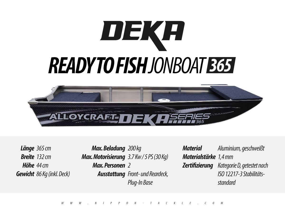 DEKA Jon Boat 365 - Angelboot aus Aluminium