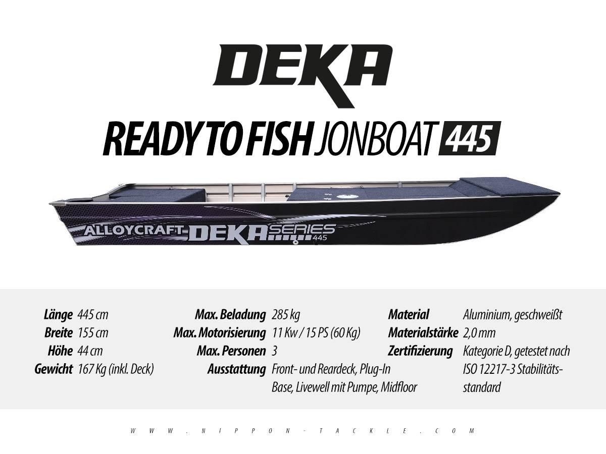 DEKA Jon Boat 445 - Angelboot aus Aluminium