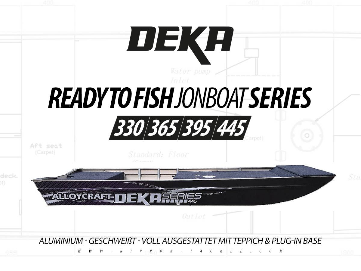 DEKA Jon Boat Series 330 / 365 / 395 / 445 - Angelboote aus Aluminium