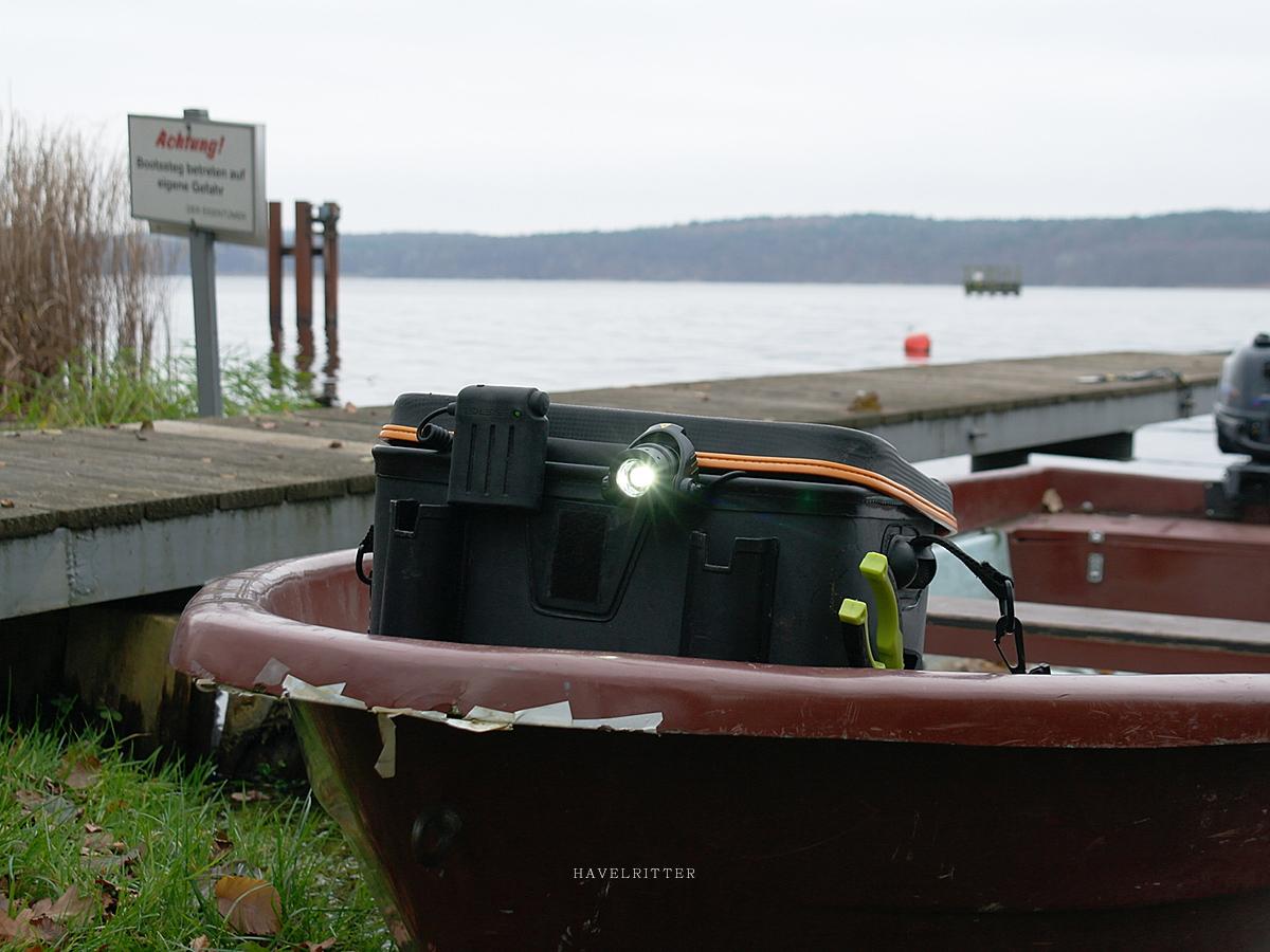 Auf dem Angelboot ein echtes Sicherheits-Feature!