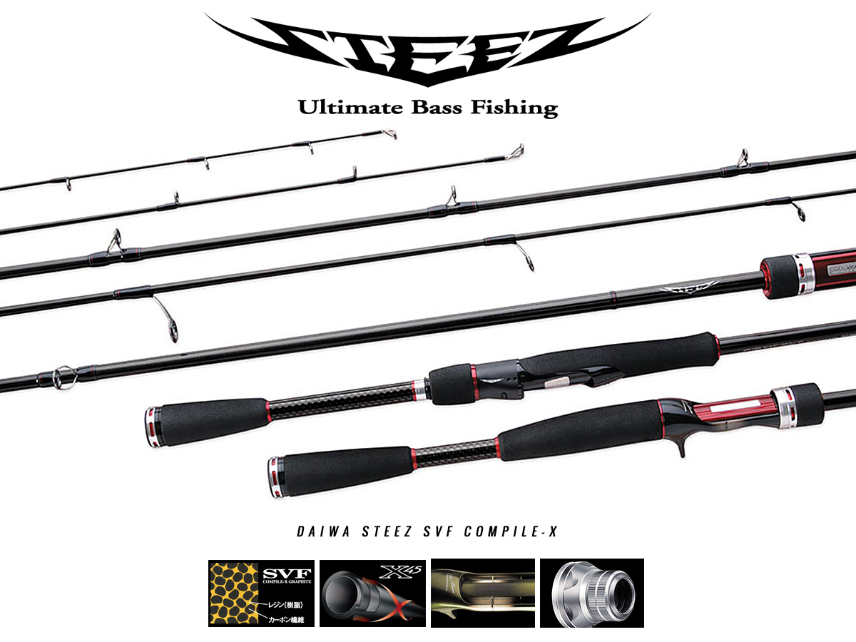 DAIWA Steez SVF Compile-X Rutenserie