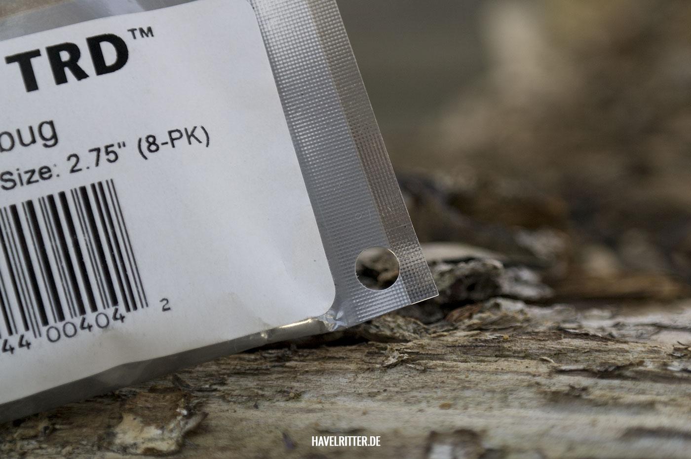 Z-Man Gummiköder - Blisterverpackung mit Stanzung / Lochung für Bait Binder Bag