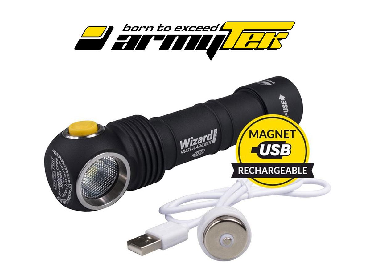 Armytek Wizard Pro Magnet USB Cree XHP50, Warm
