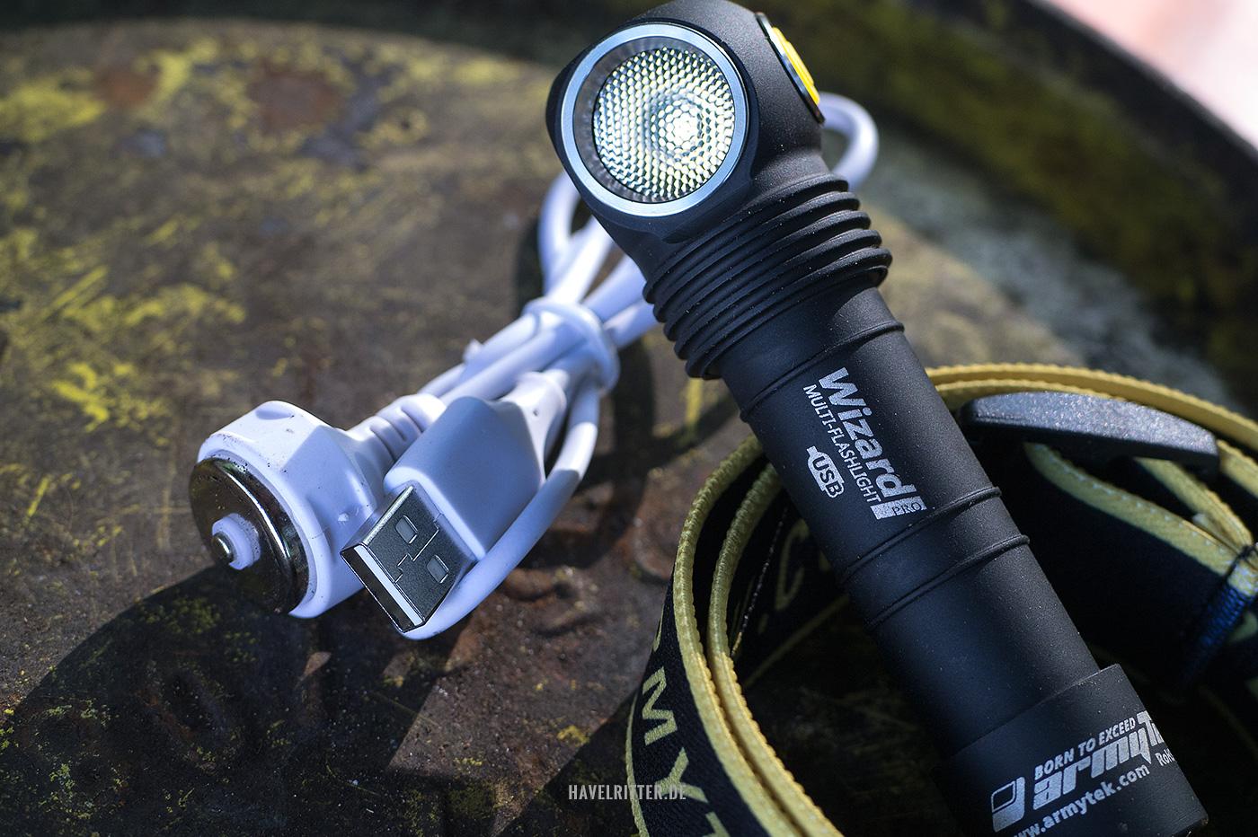 Armytek Wizard Pro USB Magnet XHP50 - Kühlrippen