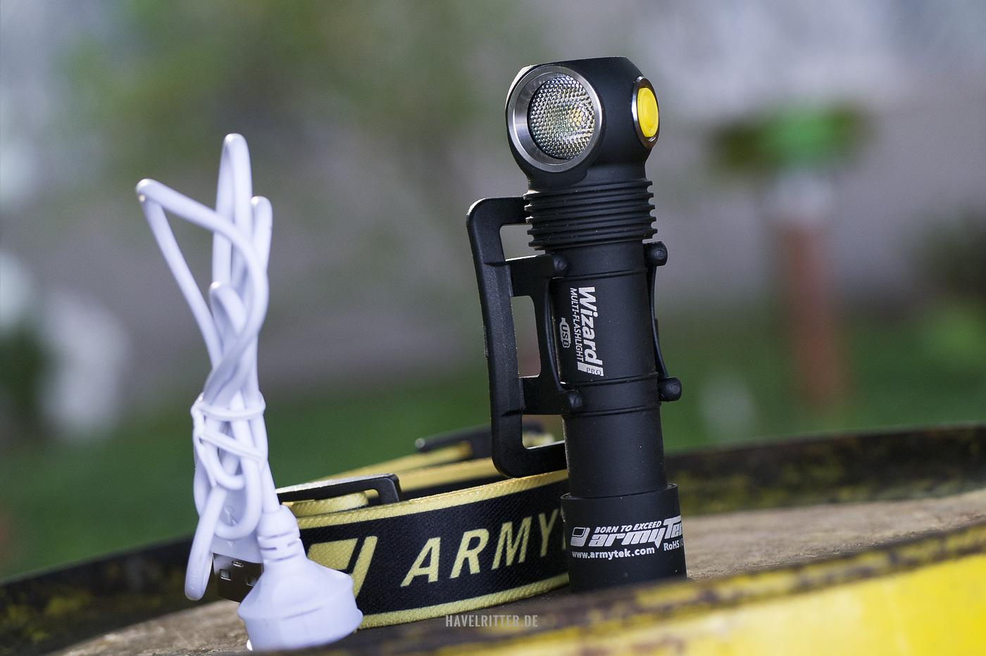Armytek Wizard Pro - Kleine Kopf-/Taschenlampe