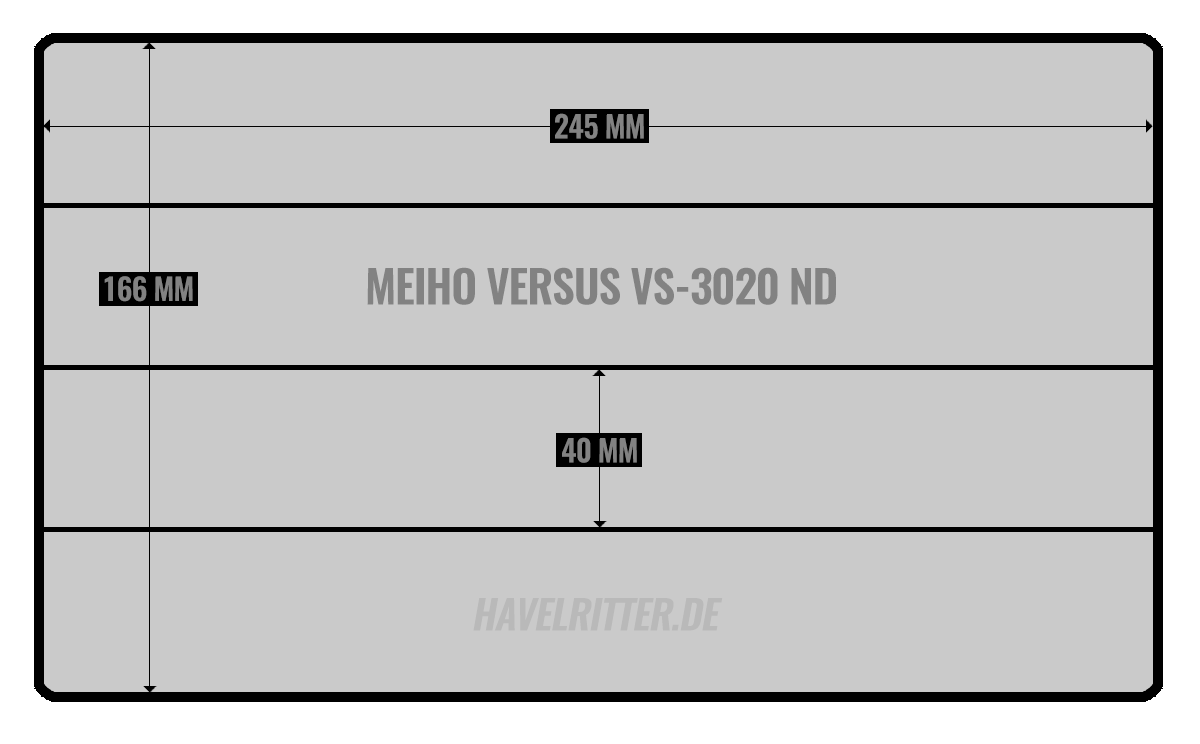 MEIHO Versus VS-3020 ND - Layout / Facheinteilung