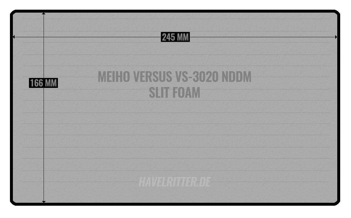 MEIHO VS-3020 NDDM Slit Foam - Layout / Facheinteilung