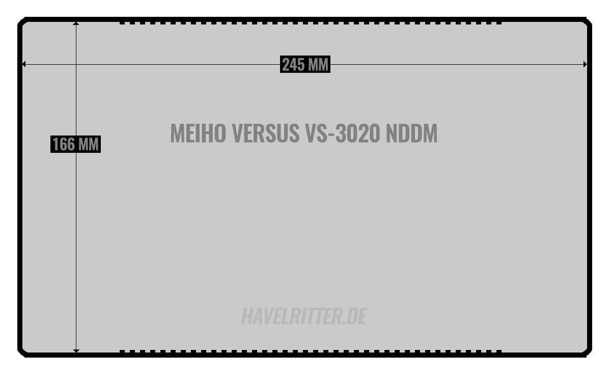 MEIHO Versus VS-3020 NDDM - Layout / Facheinteilung