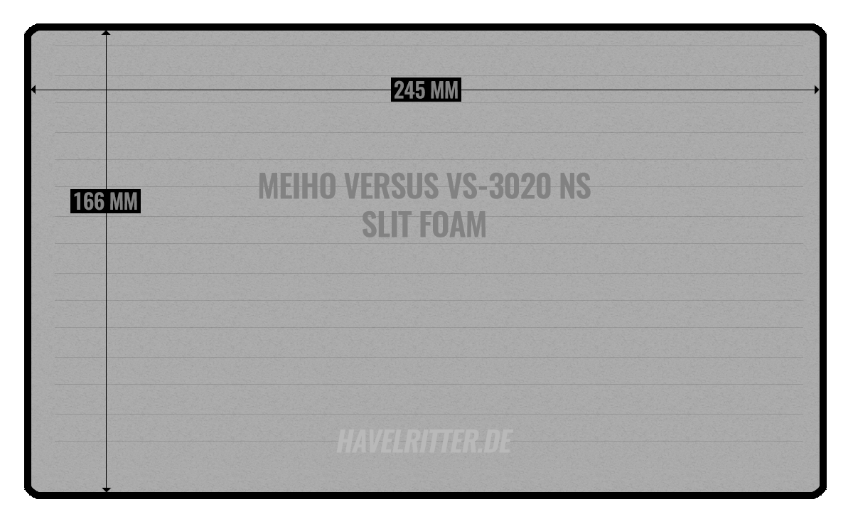 MEIHO Versus VS-3020 NS Slit foarm - Layout / Facheinteilung