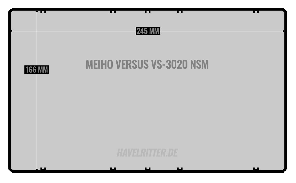 MEIHO Versus VS-3020 NSM - Layout / Facheinteilung